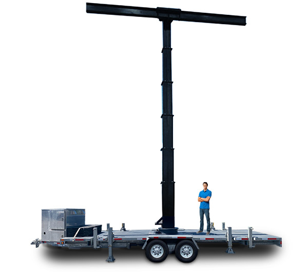 Giant LED Screen Trailer T-Bar