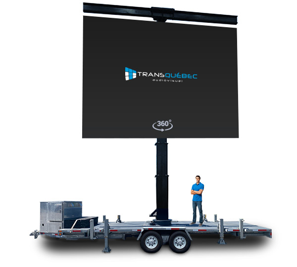 Giant LED Screen Trailer T-Bar landscape