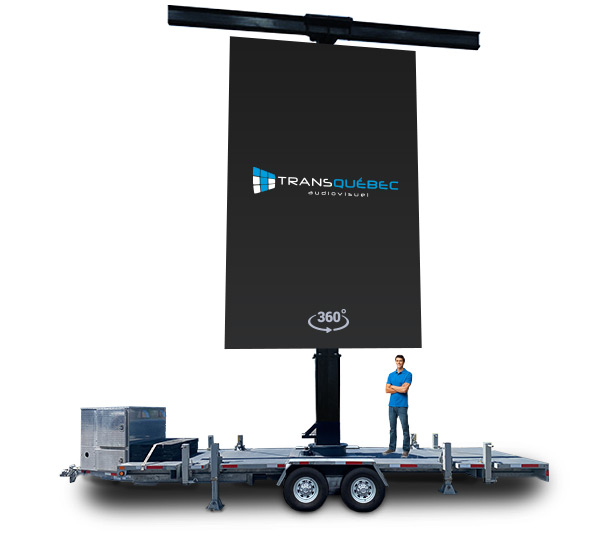 Giant LED Screen Trailer T-Bar Portrait